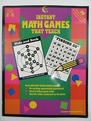5 Grade Math Games (Instant Math Games That Teach-Creative Teaching Press Grades 2-5 Home School)