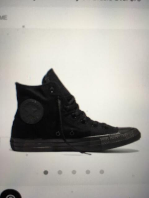 b455fedc1e76 Converse black high tops as new. Unisex UK size 10 EUR 44 ...