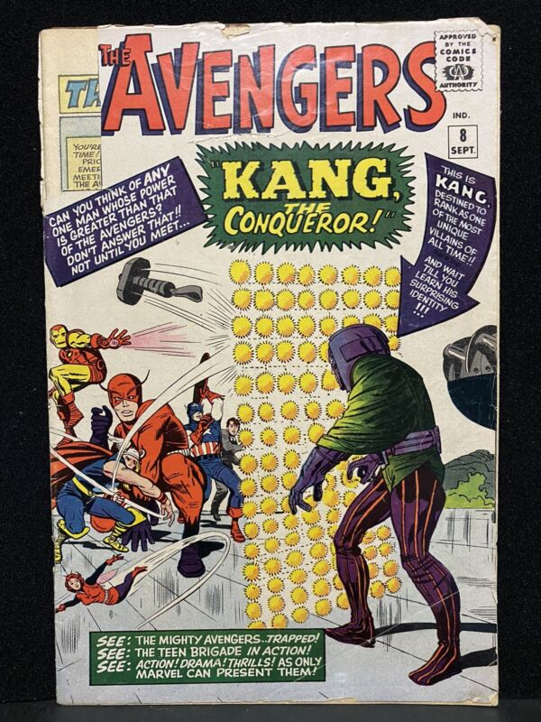 Avengers #8 1964 MAJOR KEY 1st App Lang The Conqueror ~ Reader Complete Nice!