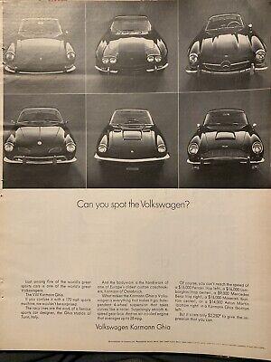 1960s VW Volkswagen Ghia vintage advertisement print ad poster car photo