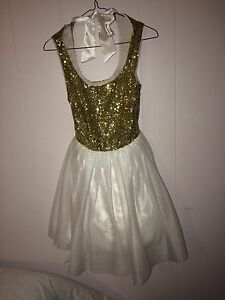 Gold/White Graduation/Prom Dress
