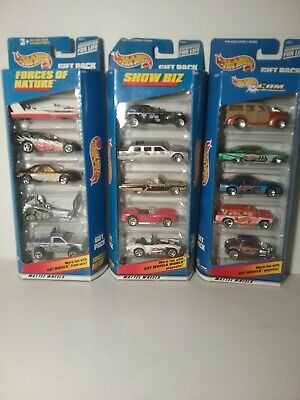 Hot Wheels Gift Pack Show Biz! Lot of 5 cars w/Ferrari (2) And 2 Other 5 Packs