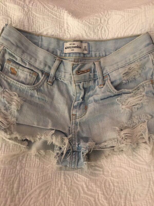 Abercrombie Kids NWOT DESTROYED Girls Shorts Size 10