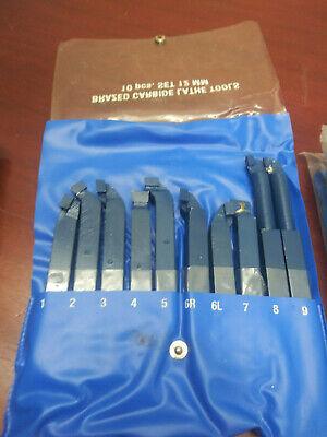10 Pc 14 12mm Brazed Carbide Lathe Tools Kit
