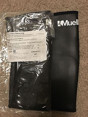 Long Short Mueller Bulk Elbow Sleeve Black   Versatile Sleeve   Nylon Lining