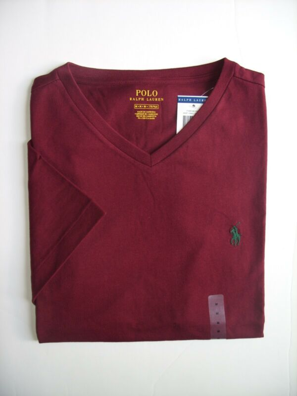 Men Polo Ralph Lauren V-Neck T Shirt Size S M L XL XXL - NWT ... 744d80a6db5c
