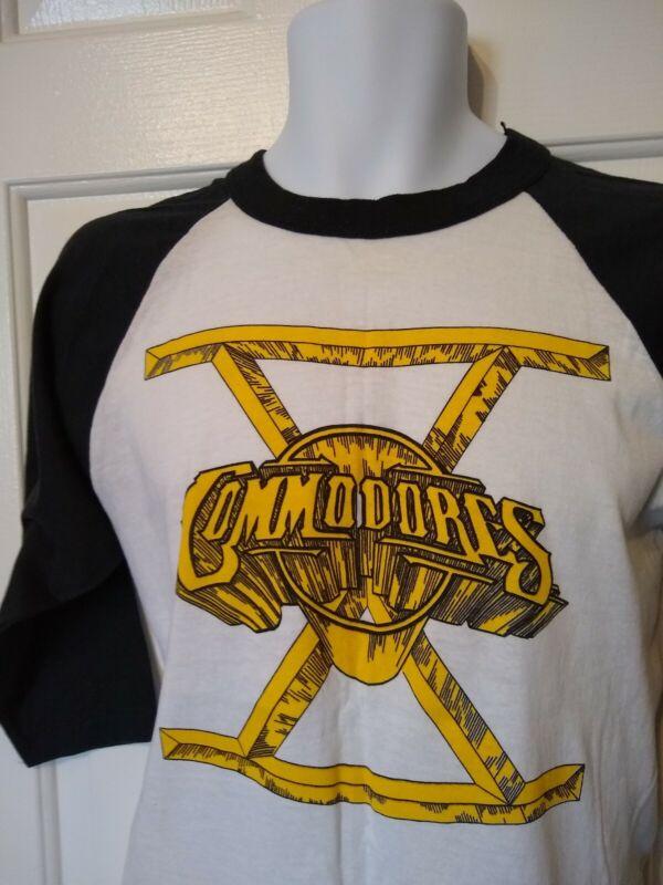 Vintage Commodores 1980 North America Tour T-shirt Paper Thin Medium read