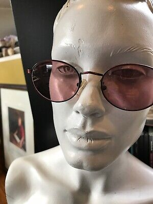Vintage fratelli lozza women's sunglasses antique chester Italy Rose colored (Sunglasses Chester)