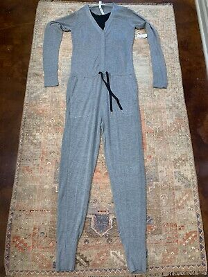 Lululemon Women's Sweater Jumpsuit Built In Tank Grey Size 8