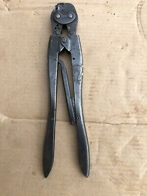 Amp Tyco 90124-2 20-14 Awg Type F Ratcheting Hand Crimp Tool Te-connectivity