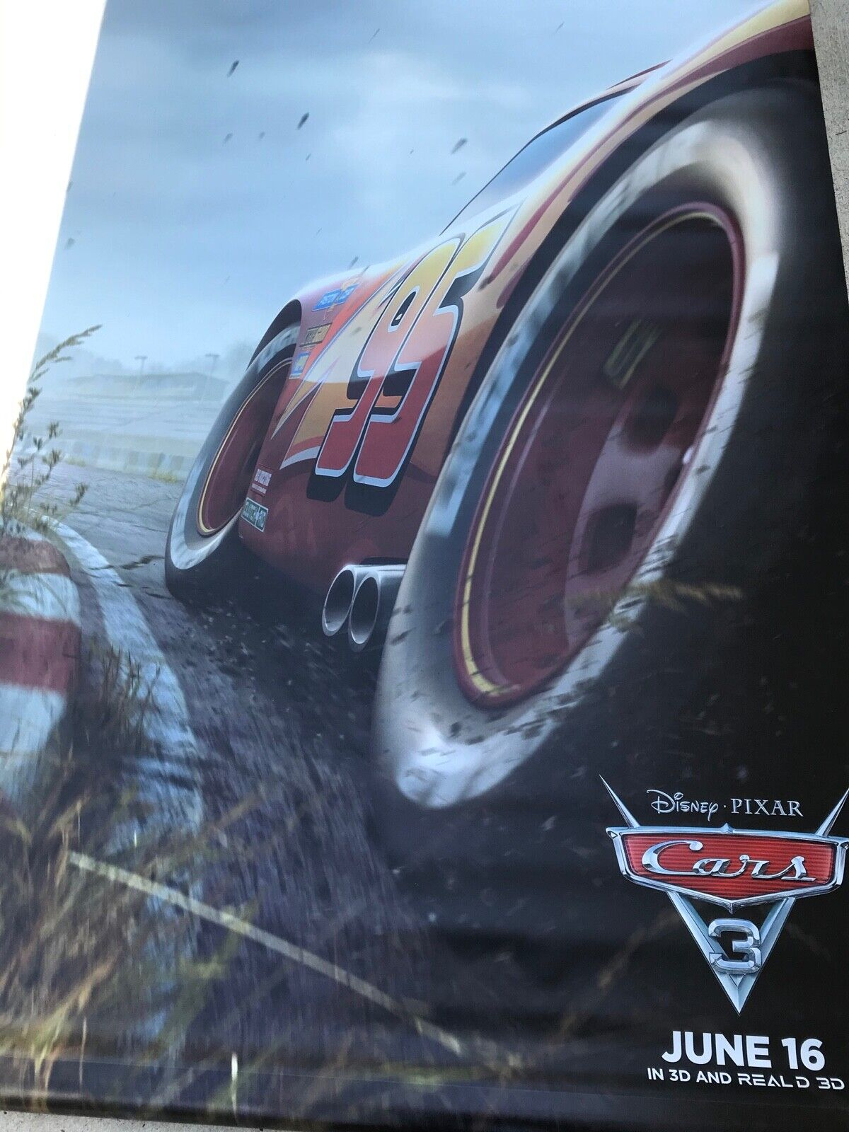 PIRATES OF THE CARIBBEAN CARS 8' x 5' VINYL MOVIE POSTER THE