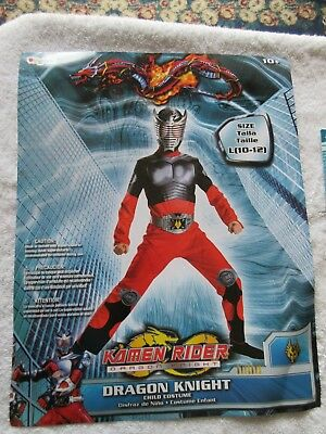 Kamen Rider Dragon Knight Halloween Costume Size Large (10-12) comes with sword - Dragon Rider Halloween Costume