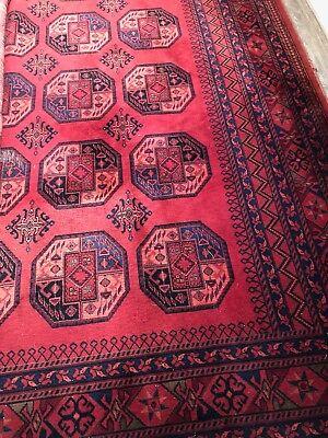 Großer echter Afghane Teppich 4,50 X 3,00m