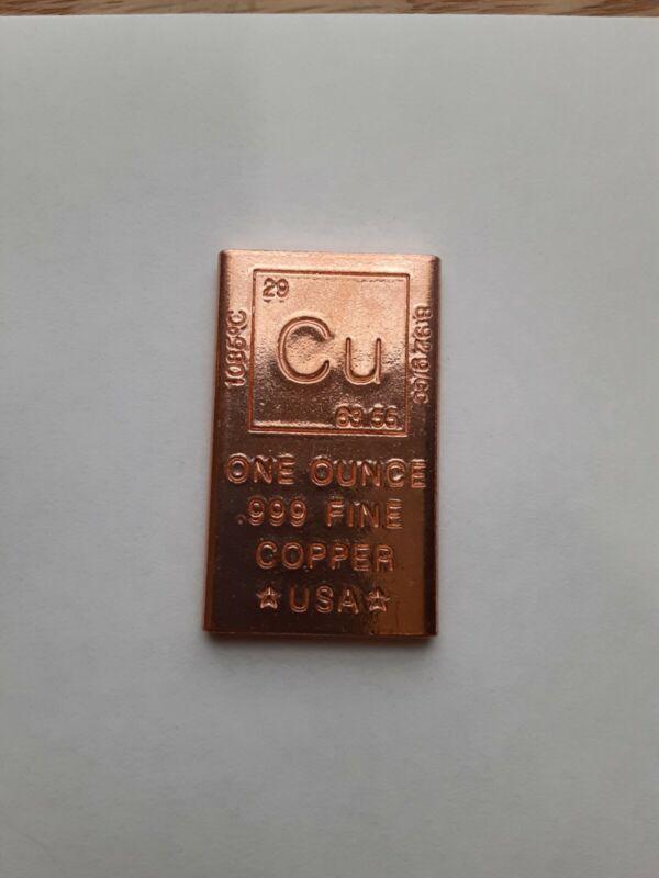1oz Copper Bar - Elemental