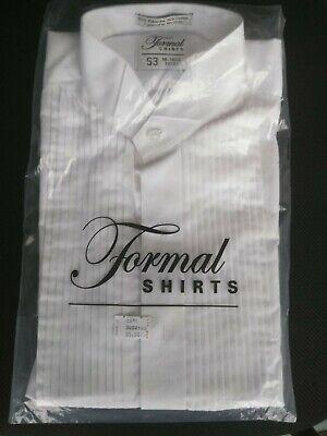 Tuxedo Shirt CLASSIC Fit White Formal WING TIP Collar long sleeve New (Classic Wingtip Tuxedo Shirt)