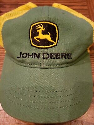 John Deere Logo Green Yellow Mesh Snapback Tractor Hat Cap Toddler Ball cap](Toddler Yellow Hat)