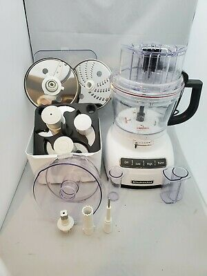KitchenAid KFP1333 White Food Processor 13 cup  with Accessories W/ ExactSlice