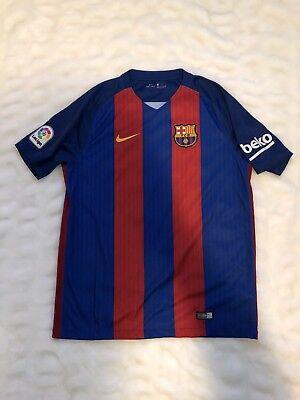 ccbb3c203 NWT Nike 2016 2017 FC BARCELONA Stadium Jersey Sz L 100% Auth. FCB 776850  481
