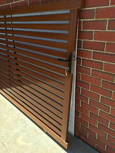 SLAT SLIDING GATE (WOOD, GREY & BLACK AVAIL) ALUMINIUM 3300X1600 Salisbury South Salisbury Area Preview