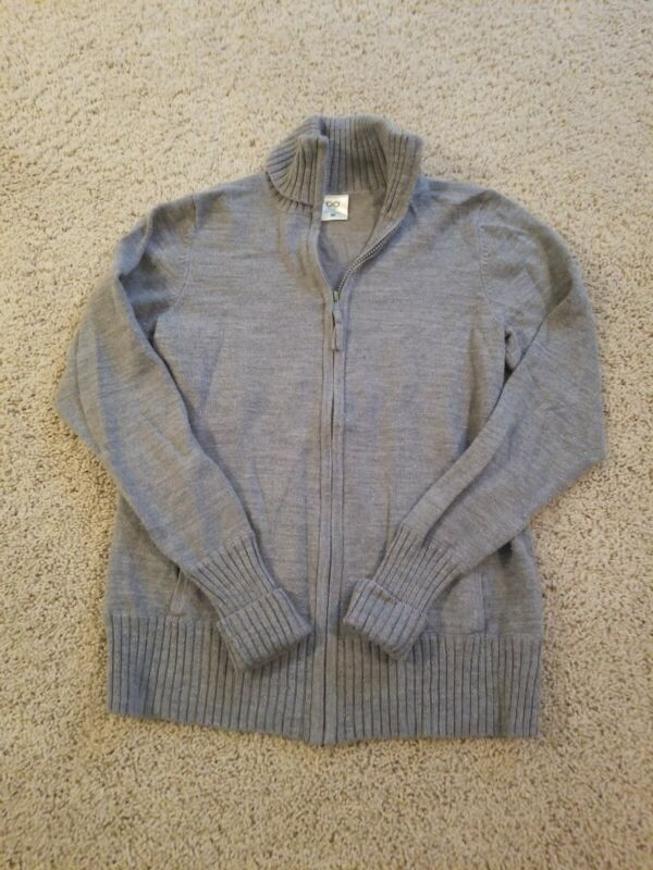 Gray Maternity Sweater Jacket, Size Small