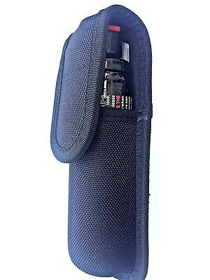 Nylon black molded large pepper spray mace holder case pouch