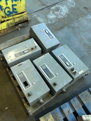 Allen Bradley Size 3 Magnetic Motor Starters 120 Volt
