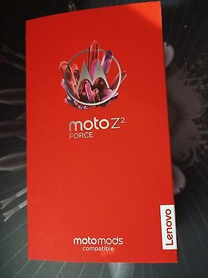 BRAND NEW MOTOROLA MOTO Z2 FORCE XT1789-01 VERIZON BLACK 64GB FACTORY UNLOCKED