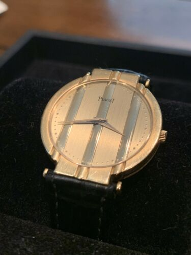 Piaget Polo model 8673 in yellow gold from the 1980's