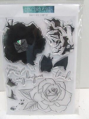 """Concord & 9th   Clear Stamps 6""""X8"""" Painted Rose"""