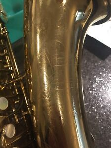 C.g. Conn conqueror saxophone w/naked lady engraving ser#277930