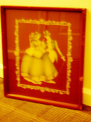 Airbrush Art by Terone Beautiful Beautytone 1930/1940s Original Glass/Frame