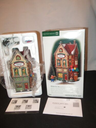 Dept 56 Christmas In The City Nicholas & Co Toys 56.58929 Village Building FF402