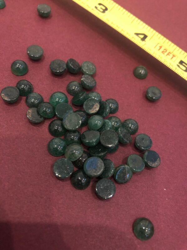 7mm Round  Genuine Green Aventurine Cab Cabochon Gem Stone Gemstone