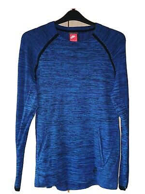 Nike Tech Knit Crew (Blue) Medium