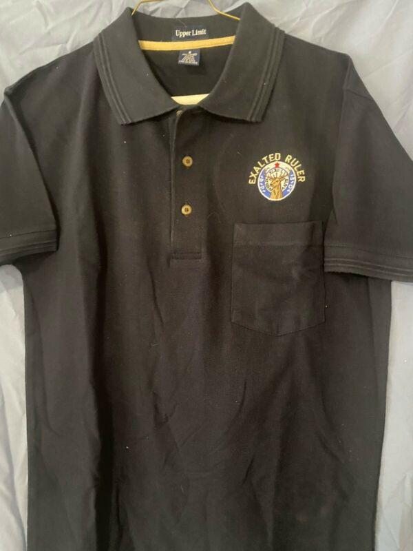 Elks BPOE EXALTED RULER Navy Short Sleeve Small Polo Shirt