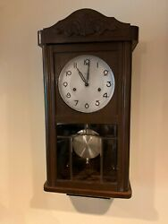 ANTIQUE REGULATOR GERMAN KIENZLE WALL CLOCK - VERY NICE CONDITION AND RUNNING