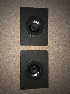 """Two 10"""" shallow Rockford fosgate p3 subs with boxes"""