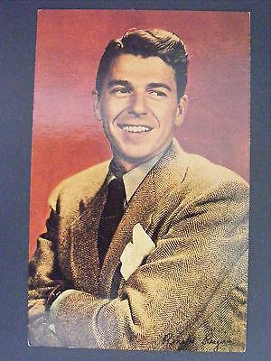 (President Ronald Reagan Portrait As Actor Color Postcard 1980s Vintage)