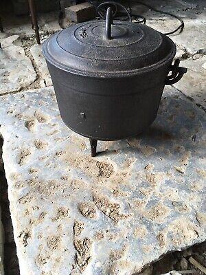 Vintage French Cast Iron Cauldron/ Cooking Pot