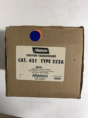 Allanson 421 Type 222a Ignition Transformer For Delco