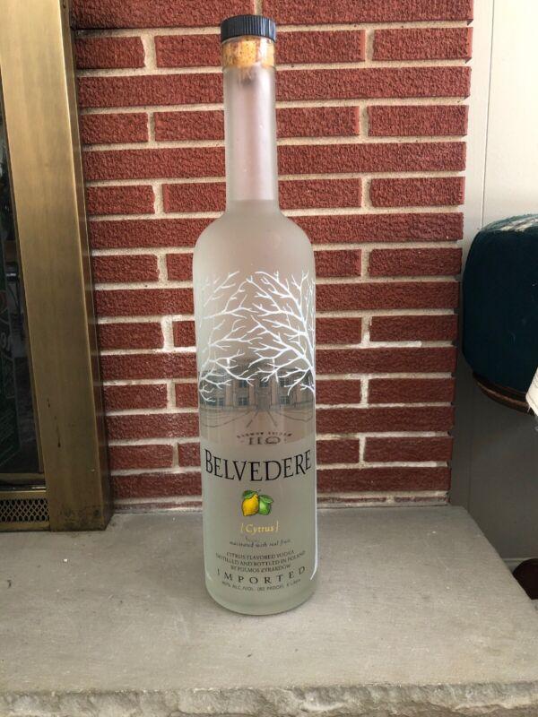 """Rare Belvedere Citrus Vodka 6l Liter Display Bottle 26"""""""