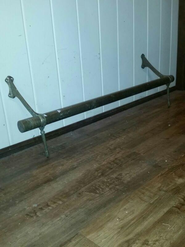 Antique brass bar foot rail 4