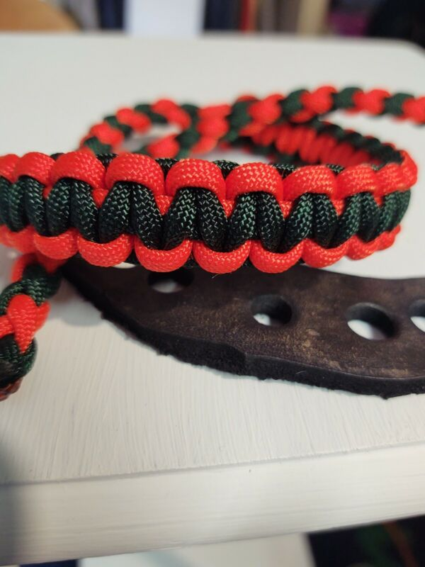Archery bow Neon Orange and Emerald wrist strap Bling Sling FREE SHIP