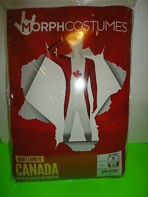 Adult Costumes Canada (Morphsuits Canada Flag Costume Medium Adult Below 5'4
