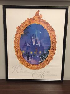 "Walt Disney World 25TH Anniversary Framed Print Poster 20"" x 16"""