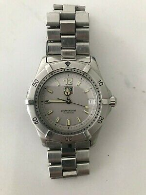 Used, TAG-HEUER WK112 Quartz Watch Silver Dial Men's Swiss Made - Aug 1997 for sale  Shipping to South Africa