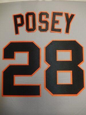 SAN FRANCISO GIANTS Number KIT AWAY GRAY Baseball JERSEY ANY NAME OR (Giants Kit)