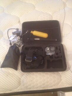action camera with accessory kit