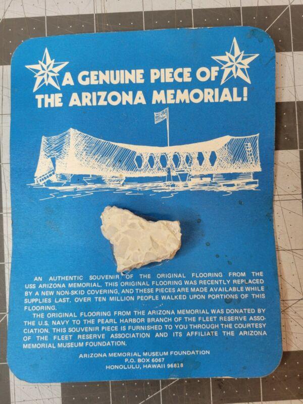 A Genuine Piece of The Arizona Memorial, Hawaii, Pearl Harbor, WW II, Souvenir