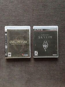 PS3 Elder Scrolls Oblivion and Skyrim